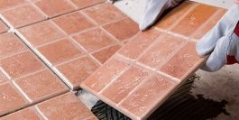 Broken tiles repair and installation
